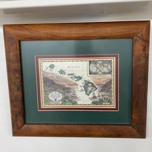 Map of the sandwich isles with frame